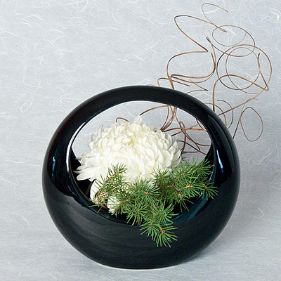 Ceramic Ikebana Basket