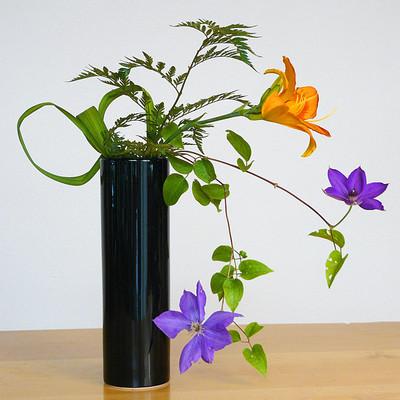 Nageire Cylinder Vase - Black