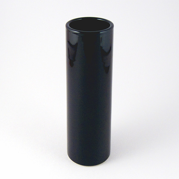 Black nageire cylinder vase close-up