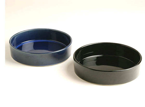 Round Suiban Ikebana Container Available In Black