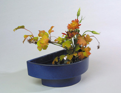 Half-Circle Suiban Ikebana Container