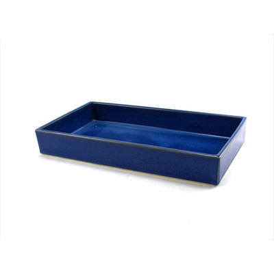Rectangle Suiban Ikebana Vase - Blue