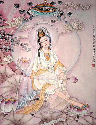 Peaceful Kuan Yin Tile