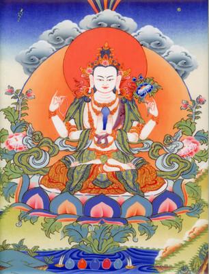 Avalokiteshvara Tile