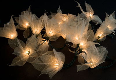 Whisper Lights - Bodhi Leaf Flower Lights (Natural)