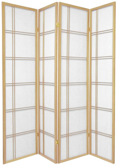 Lattice Shoji Screen 4-panel in Natural