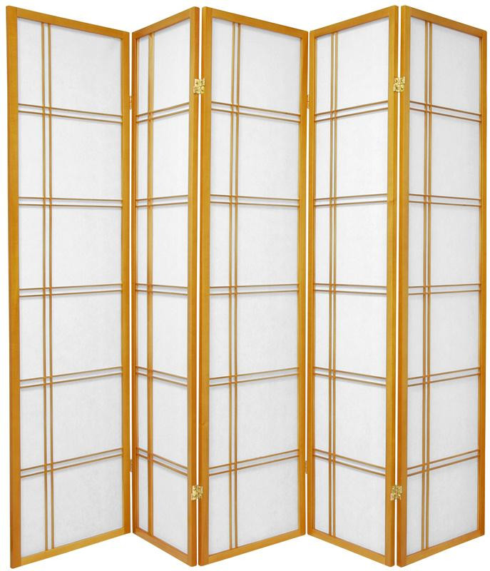 Lattice Shoji Screen 5-panel in Honey