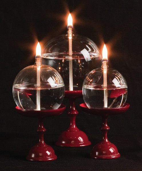Handblown Glass Orb Oil Lamps -- perfect for shrine or altar | Ziji