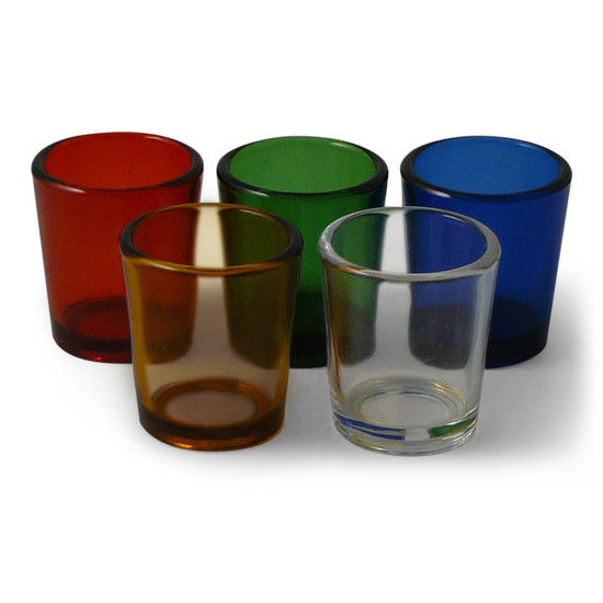 Votive Candle Holders in Five Colors