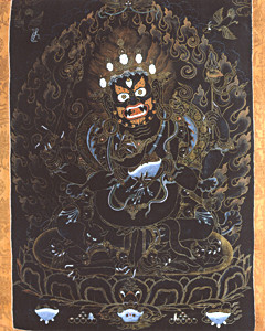 Four-armed Mahakala Thangka Print