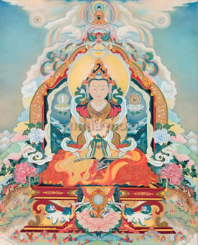Primordial Rigden Thangka Print