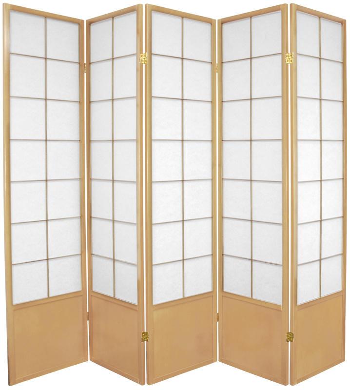 Zen Shoji Screen 5-panel in natural