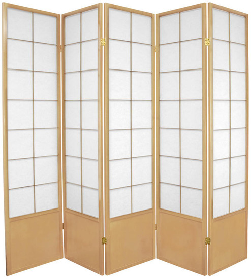 Zen Shoji Screen 5-panel in natural