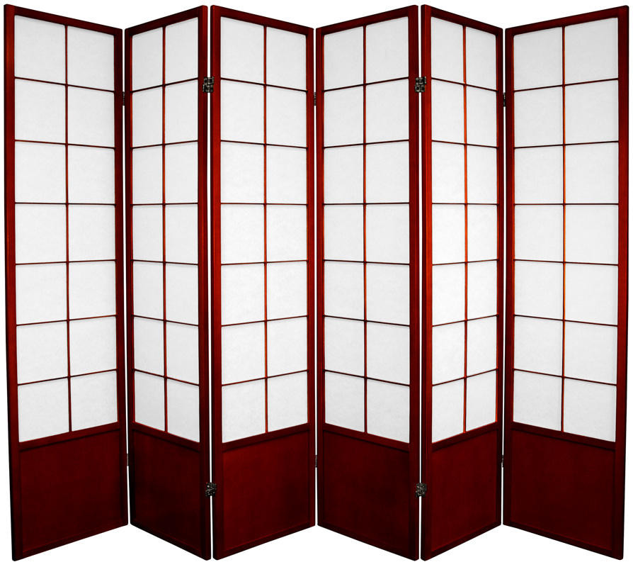 Zen Shoji Screen 6-panel in rosewood