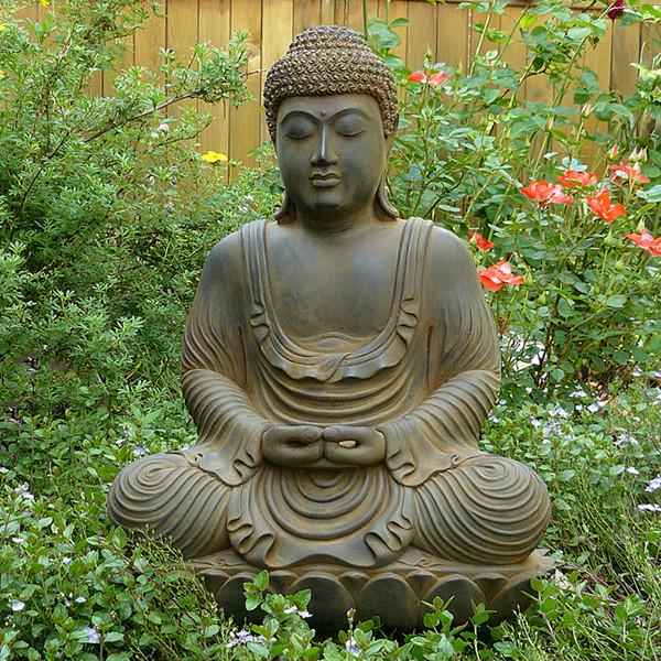 Meditating Garden Buddha statue cast in high quality resin ...