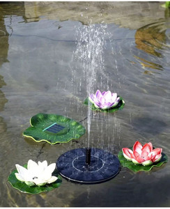 Solar Panel Floating Fountain with 3 replacement heads