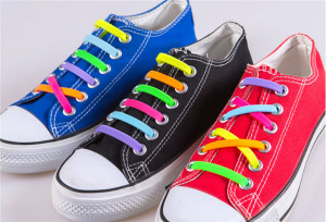 Coolnice Multi Color Lazy Elastic Silicone No Tie Shoelace