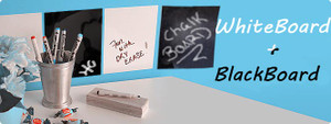 2 Pack White and Black Boards