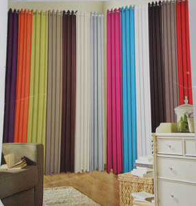 High quality colour curtains