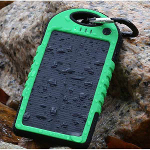 5000mAh Dual USB Waterproof Solar Power Bank