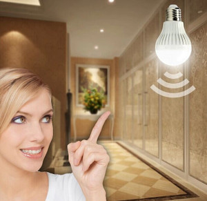 Motion detection sensor LED bulb 5w