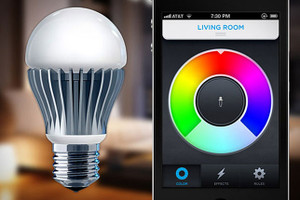 App controlled colour changing RGB LED bulb