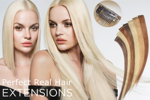 Clip in Remy Hair Extensions 100% Real Human Hair