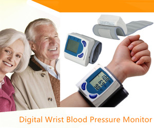 Digital Wrist Blood Pressure Monitor Heart Beat Rate Pulse Meter Measure