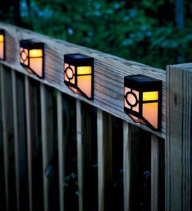 Solar Panel Fence LED Light pack of 2