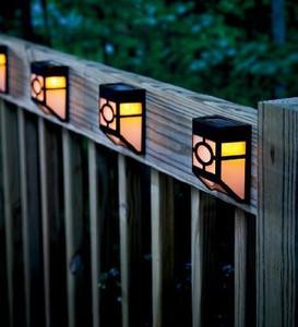 Solar Panel Fence LED Light