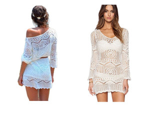Hollow Out Bikini Cover Up Dress