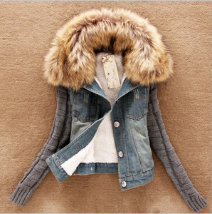 Women's Denim Winter coat