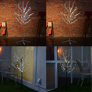 80cm 80LEDs Cherry Blossom Tree Light with Cool White Light and Black Branches, Perfect for Home Festival Party