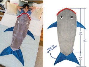 Shark Tail Fleece Blanket Soft Snuggle-in Sleeping Bag Costume