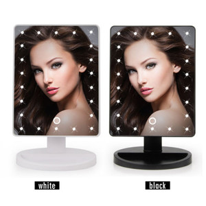 Touch Screen Makeup Cosmetic Mirror Portable 22LEDs Lighted Portable Mirror