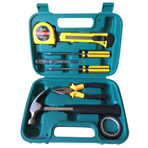 Household hardware kit electrician carpenter repair tools a set of 9 pieces
