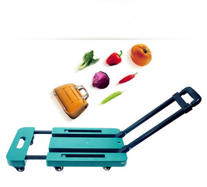 portable car folding mini trolley car camera bag trolley car shopping cart luggage cart