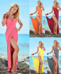 Summer Beach Body Wrap and long dress