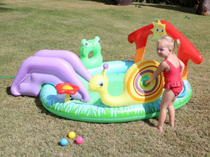 BESTWAY Summer garden kids paddling pool system with slide