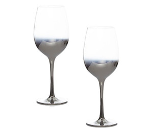 Aurora Silver Fade-effect luxury wine glasses 2-pack