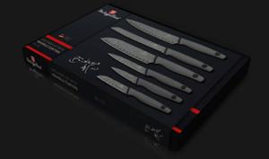 6-Piece Diamond Granite Berlinger Haus Kitchen Knife Set