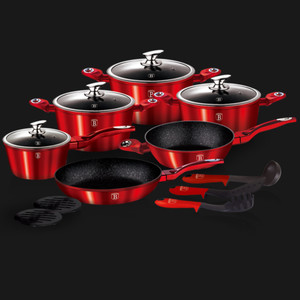 Berlinger Haus 15 pcs cookware set Burgundy Metallic Line