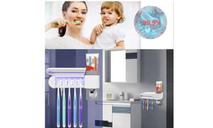 UV Light Toothbrush Sterilizer Box Ultraviolet Antibacterial Toothbrush Cleaner