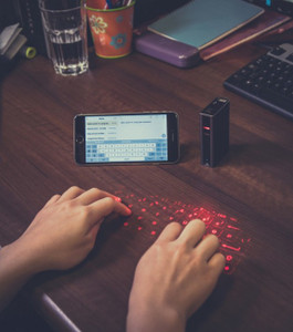 Pre-order laser keyboard for smartphone