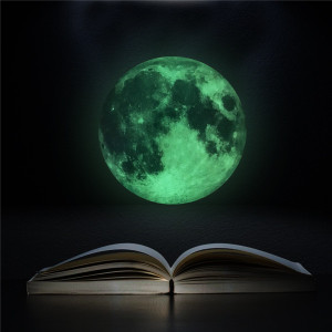 30cm luminous glow moon wall sticker