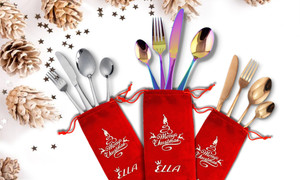 Ella Christmas Cutlery Set