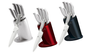 Berlinger Haus Six-Piece Knife Set with Stand