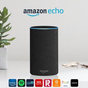 Amazon Echo (2nd Gen) - Smart speaker with Alexa - Charcoal Fabric