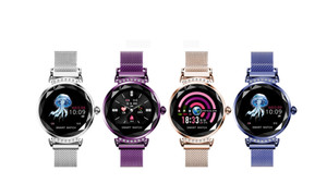 H2 Elegant Ladies Health Monitor Smart Watch with metal Magnetic strap