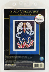 Stars, Stripes, Angels Patriotic Gold Collection Petite Dimensions Cross Stitch Kit! Buy now at Archway Variety!